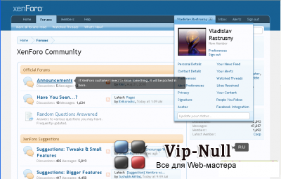 XenForo 1.3.0 Rus Nulled